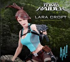AH Lara Croft PF Tease by TKMillerSculpt