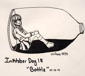 Inktober 2018- Day 18 Bottle by vicfania8855