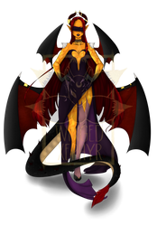 Female Demon [CLOSED] SET PRICE - Reduced by Winged-Xephyr