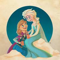 Frozen -- Sister Bonding by danceswithwienerdogs