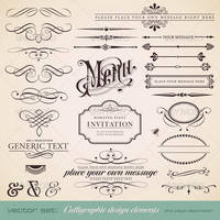 Calligraphic Design Elements and Page Decoration by carlosnance