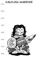 Halfling Warrior by JVWest