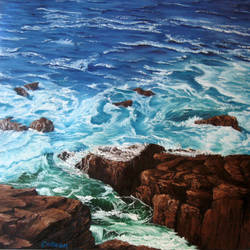 Rocky Shore PRINT by crazycolleeny