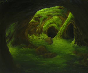 Mossy Cave PRINT by crazycolleeny