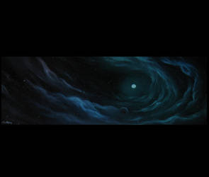 Cerulean Sky PRINT by crazycolleeny