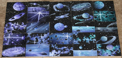 Mini Artomat Spacescapes 626-650 by crazycolleeny