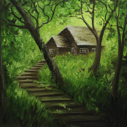 Log Cabin by crazycolleeny