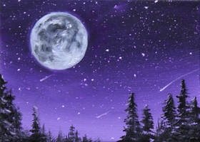 Purple Moon by crazycolleeny