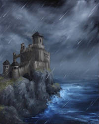 Seaside Castle by crazycolleeny