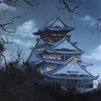 Osaka Castle by crazycolleeny