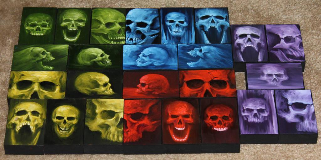 Mini Artomat Skulls 1-25 by crazycolleeny