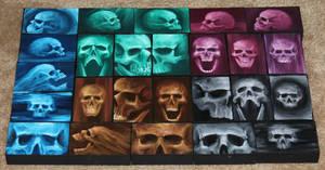 Mini Artomat Skulls 26-50 by crazycolleeny