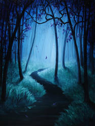 Ghostly Forest by crazycolleeny