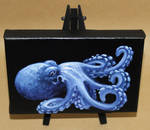 Small Blue Octo by crazycolleeny