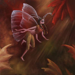 Autumn Fairy by crazycolleeny