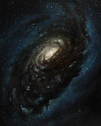 Black Eye Galaxy by crazycolleeny
