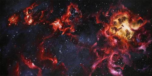 Tarantula Nebula by crazycolleeny