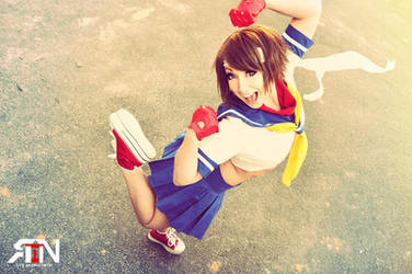 Sakura- Street Fighter Cosplay by Its-Raining-Neon