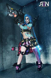 Jinx! - The loose cannon- League of Legends by Its-Raining-Neon