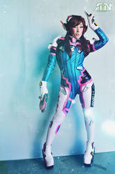 I PLAY TO WIN  D.VA Cosplay Overwatch by Its-Raining-Neon