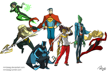 Justice League redesigned! by MrRizeAG