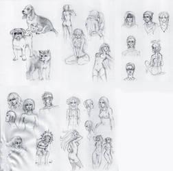 Sketchdump December 2013 by DamaiMikaz