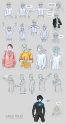 Sketchdump March 2016 [Clothing] by DamaiMikaz