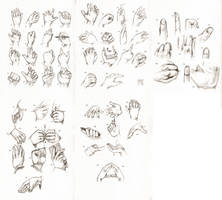 Sketchdump July 2016 [Hands] by DamaiMikaz