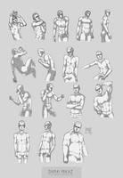 Sketchdump August 2016 [Male Anatomy] by DamaiMikaz