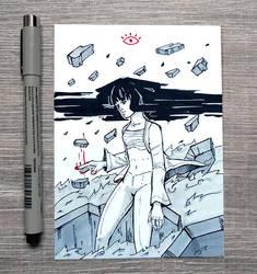 [Inktober] 04 Crumble by DamaiMikaz