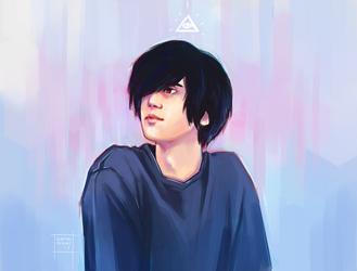 Sato portrait by DamaiMikaz