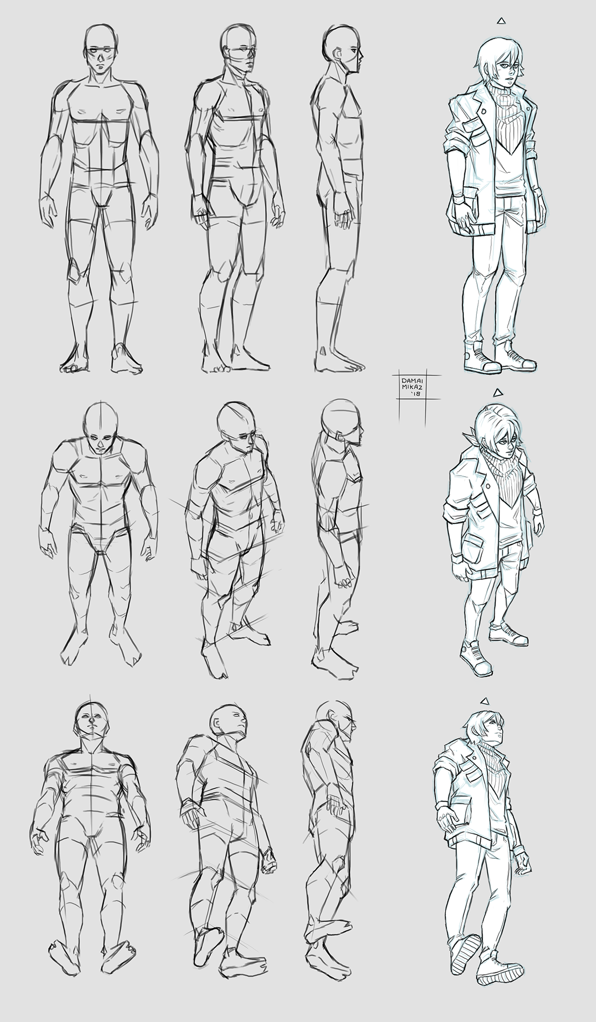 It is a graphic of Gargantuan Looking Back Drawing Reference