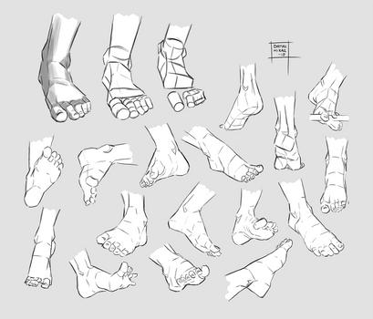 Sketchdump August 2018 [Feet] by DamaiMikaz