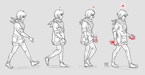 Sketchdump November 2018 [Walk 01] by DamaiMikaz