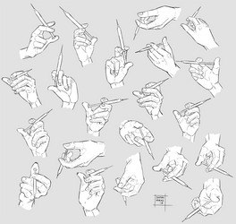 Sketchdump December 2018 [Hands with syringe] by DamaiMikaz