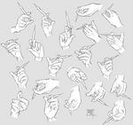 Sketchdump December 2018 [Hands with syringe] by DamaiMikaz