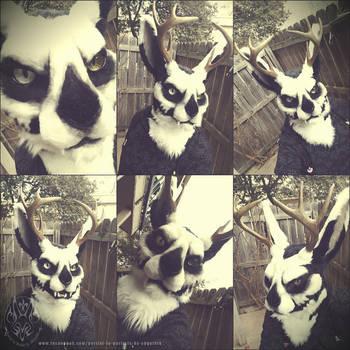 Morrow Jackalope Fursuit Mask by SBGothik