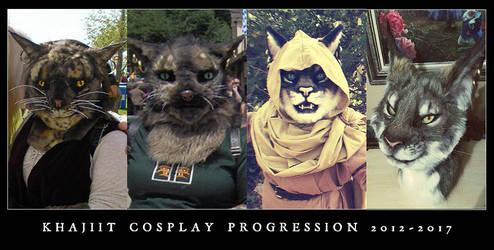 Cosplay Progression 2012-2017 by SBGothik