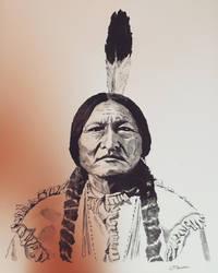 Sitting Bull Portrait by TheWestIsNotDead