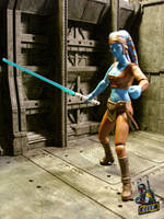 Jedi Knight Aayla Secura by starwarsgeekdotnet