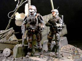 HALO Marines by starwarsgeekdotnet