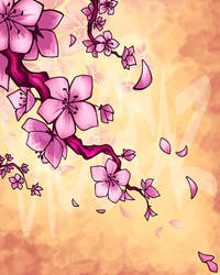 Cherry Blossoms in the Wind by BiggCaZ