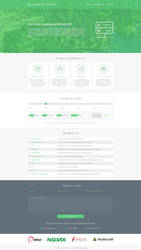 Hosting Landing Page by sg2142