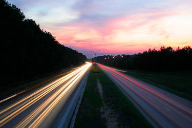 Interstate Sunset by rickagray