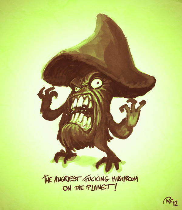 Day01: The Angriest Mushroom by BluntieDK
