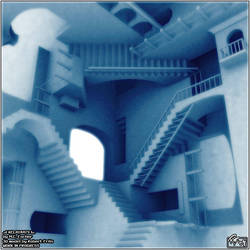 Escher's Relativity - WIP by BluntieDK