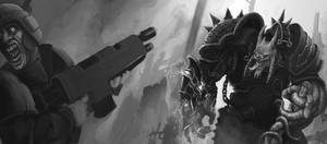 WH40K - Chaos Marine - WIP by BluntieDK