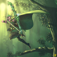 More Night Elf hunter - Finish by BluntieDK