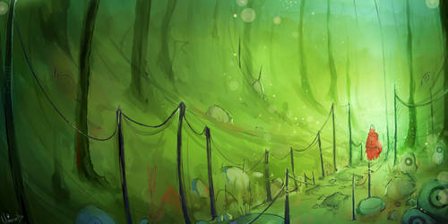 Concept art: forest by White-1nk