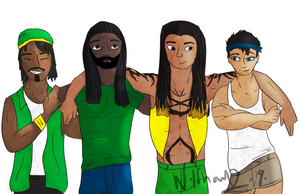 Capoeira Fighters as Drawn by Wolfhowl2090 by GreatDragonKid